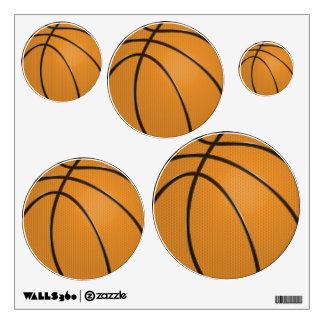 Etiquetas de la pared del baloncesto en 5 tamaños vinilo