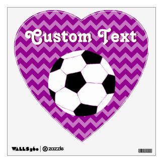 Etiquetas de la pared del fútbol: Fútbol de Chevro Vinilo