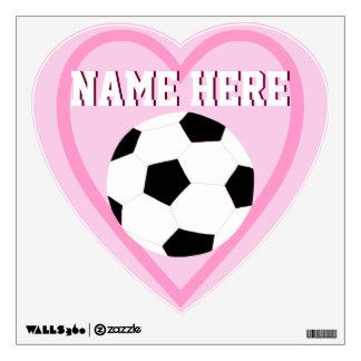 Etiquetas de la pared del fútbol: Fútbol del amor Vinilo Adhesivo