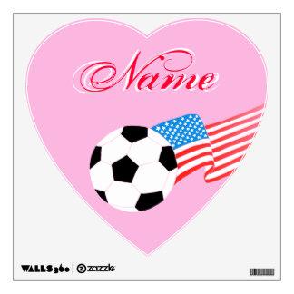 Etiquetas de la pared del fútbol: Fútbol del Vinilo