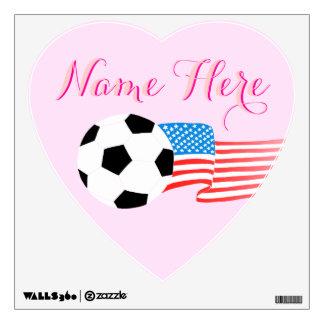 Etiquetas de la pared del fútbol: Personalizado Vinilo