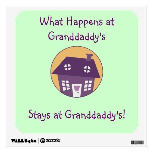 Etiquetas de la pared del Granddaddy