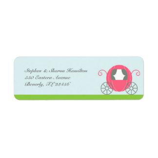 Etiquetas de la princesa remite etiqueta de remitente