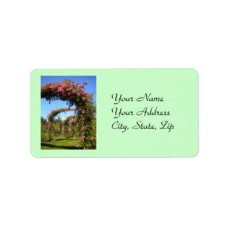 Etiquetas de la rosaleda etiqueta de dirección