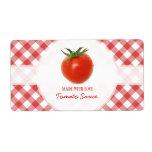 Etiquetas de la salsa de tomate etiqueta de envío