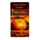 Etiquetas de la sidra de Apple Etiqueta De Envío