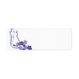 Etiquetas de la silueta del boda etiqueta de remitente