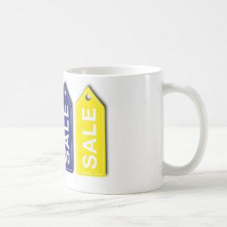 Etiquetas de la venta taza clásica