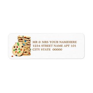 Etiquetas de las galletas etiqueta de remite