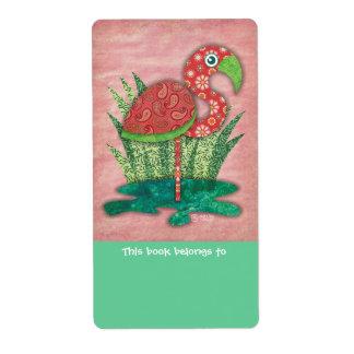 Etiquetas de los Bookplates del flamenco Etiquetas De Envío