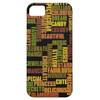 etiquetas de los chicas, palabras femeninas iPhone 5 funda