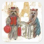 Etiquetas de los pegatinas de París de la torre Calcomanía Cuadradas Personalizadas