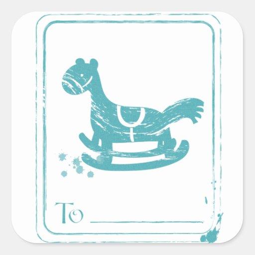 etiquetas de los regalos del navidad calcomanía cuadradas personalizada
