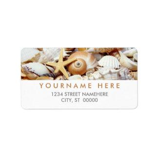 Etiquetas de los Seashells Etiquetas De Dirección