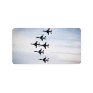 Etiquetas de los Thunderbirds V2 Etiqueta De Dirección