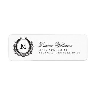 Etiquetas de lujo clásicas del remite del etiquetas de remite