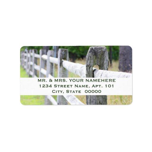 Etiquetas de madera de la cerca etiqueta de dirección