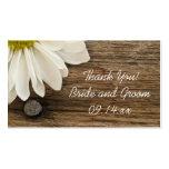 Etiquetas de madera del favor de la margarita y de tarjeta de visita