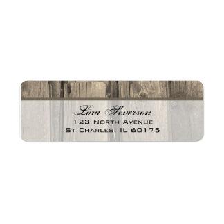 Etiquetas de madera del remite del granero del paí etiqueta de remite