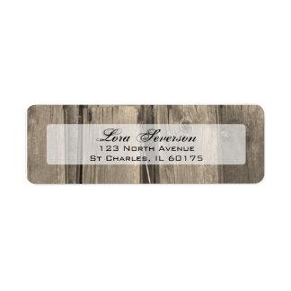 Etiquetas de madera del remite del granero del paí etiquetas de remite