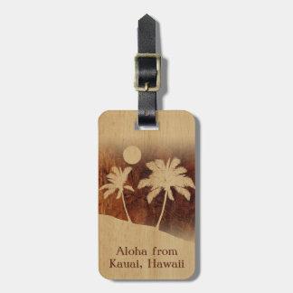 Etiquetas de madera hawaianas del equipaje de Koa Etiquetas Para Equipaje