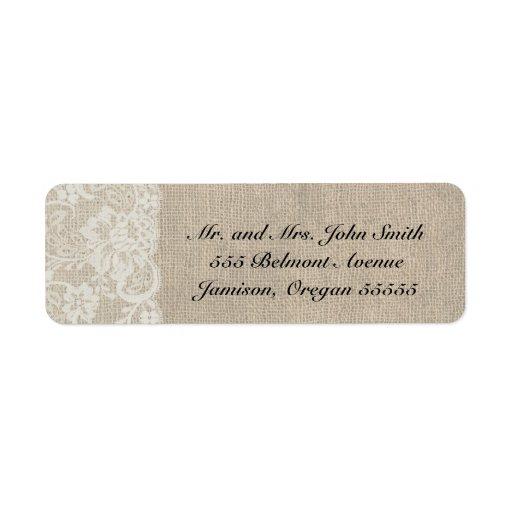 Etiquetas DE MARFIL PROFUNDAS del remite del cordó Etiquetas De Remite