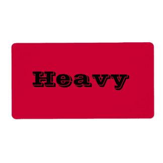 Etiquetas de mudanza pesadas en rojo etiqueta de envío