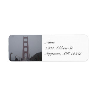 Etiquetas de niebla del remite de puente Golden Ga Etiquetas De Remite