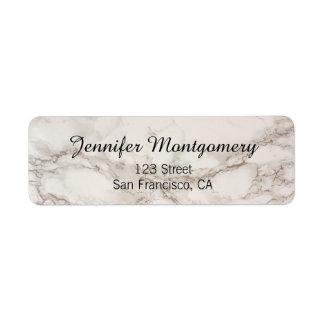 Etiquetas de piedra de mármol del remite etiqueta de remitente