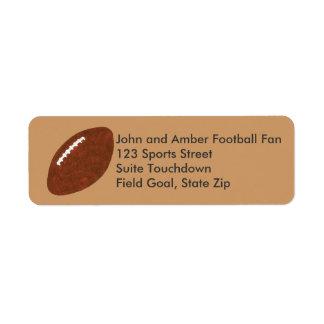 Etiquetas de pintura del remite del fútbol etiquetas de remite