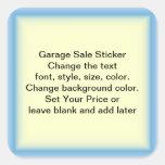 Etiquetas de precio de la venta y del mercadillo calcomanías cuadradas personalizadas
