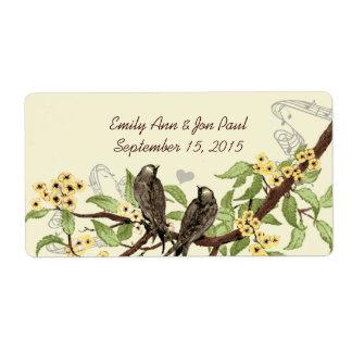 Etiquetas de rama florecientes del amarillo de los etiqueta de envío