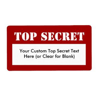 Etiquetas de relleno secretísimas de la plantilla etiquetas de envío