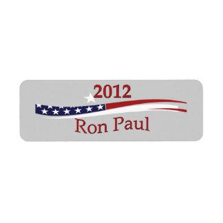Etiquetas de Ron Paul Etiqueta De Remite