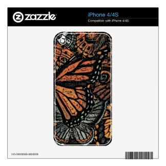 Etiquetas del ADORNO de la MARIPOSA Calcomanías Para El iPhone 4