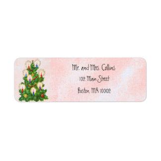 Etiquetas del árbol de navidad etiquetas de remite