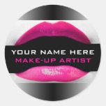 Etiquetas del artista de maquillaje