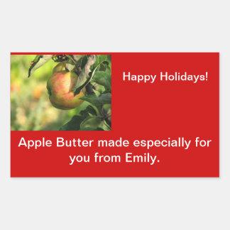 Etiquetas del atasco de la mantequilla de Apple