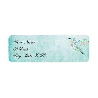 Etiquetas del boda de la acuarela del colibrí de etiqueta de remite