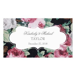 Etiquetas del boda del jardín de flores del tarjetas de visita