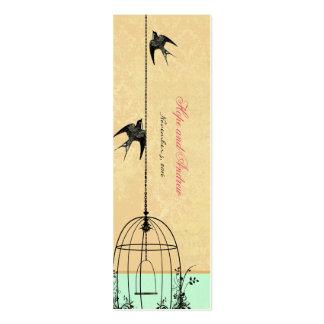 Etiquetas del boda del pájaro del vintage plantilla de tarjeta personal