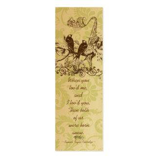 Etiquetas del boda del pájaro del vintage tarjetas de visita mini