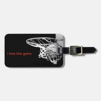 Etiquetas del bolso del baloncesto etiquetas de maletas
