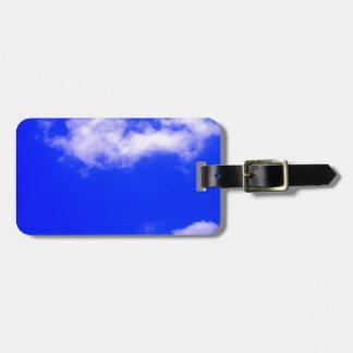 Etiquetas del bolso del cielo azul etiqueta de equipaje