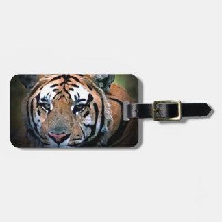 Etiquetas del bolso del viaje de los ojos del tigr etiqueta de equipaje
