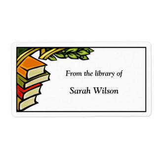 Etiquetas del Bookplate Etiquetas De Envío