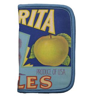Etiquetas del cajón de la fruta encendido planificador