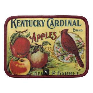 Etiquetas del cajón de la fruta encendido organizadores