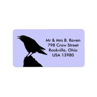 Etiquetas del cuervo etiquetas de dirección
