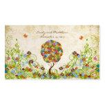 Etiquetas del damasco del árbol de la flor del tarjetas de visita
